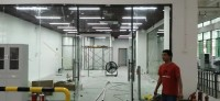 办公室装修施工现场
